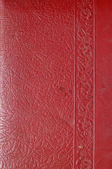 Red leather embossing №33094