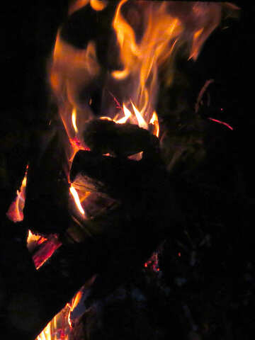 Heat and light from the campfire №34347
