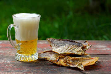 Salt fish and beer mug №34513