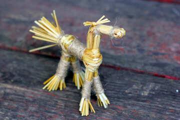 Straw horse №34804
