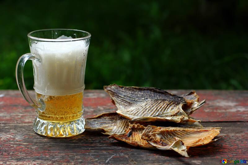 Bierkrug mit Fisch №34521