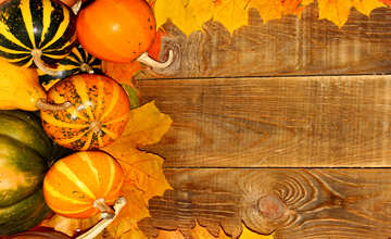 Autumn background with pumpkins side №35230