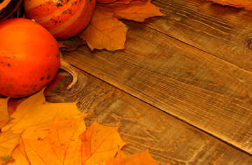 Autumn background with pumpkins №35222