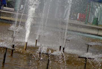 Water splashed in the fountain №35895