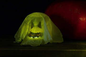 Figure of ghost on Halloween №35072