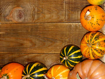 Autumn background with pumpkins №35213