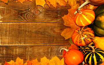 Autumn background with pumpkins №35228