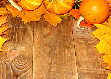 Autumn background with pumpkins №35231