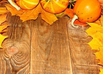 Herbst Hintergrund mit Kürbissen №35231