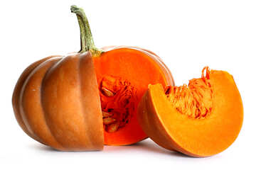 Cut pumpkin with no background №35607