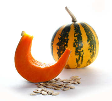 Picture with pumpkin and sunflower seeds with no background №35573