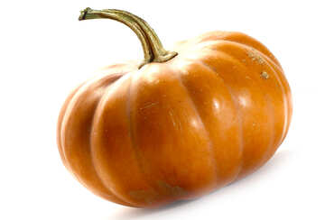 Pumpkin on white background with slope №35624