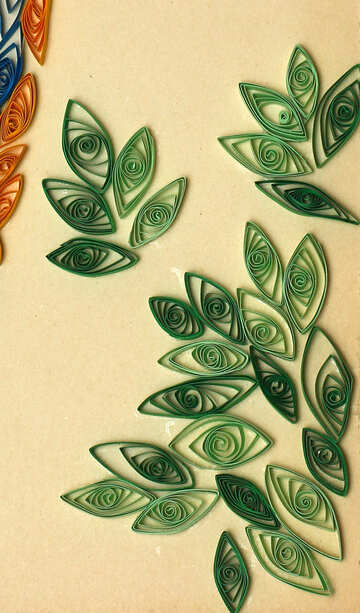 Leaves quilling №35487