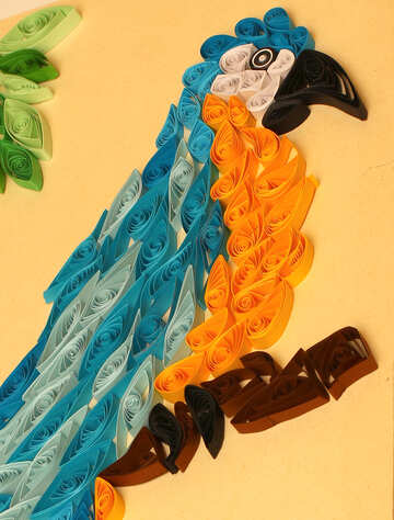 Macaw parrot out of paper quilling №35490