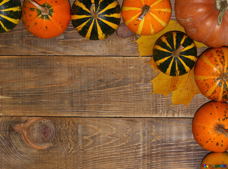 Autumn background with pumpkins №35216