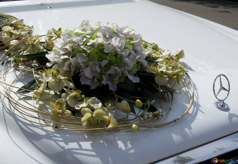 Wedding decorations for cars bouquet wedding car decoration