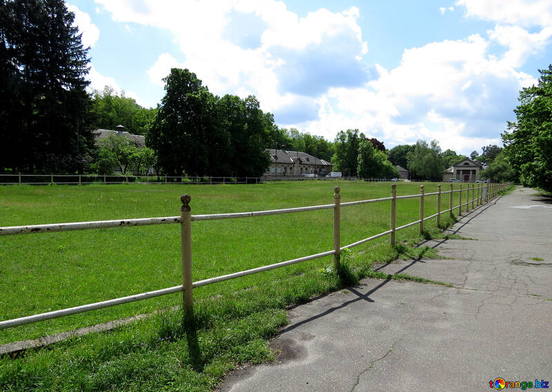 The road along the fenced field №35643