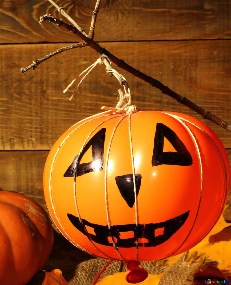 Halloween pumpkin from the ball №35403