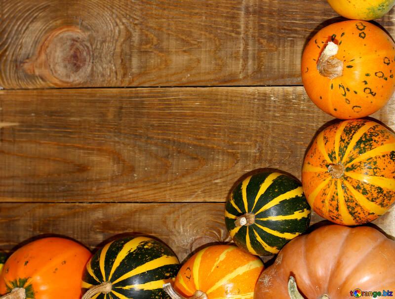 Autumn background with pumpkins №35213