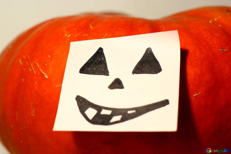 Pumpkin with paper №35514