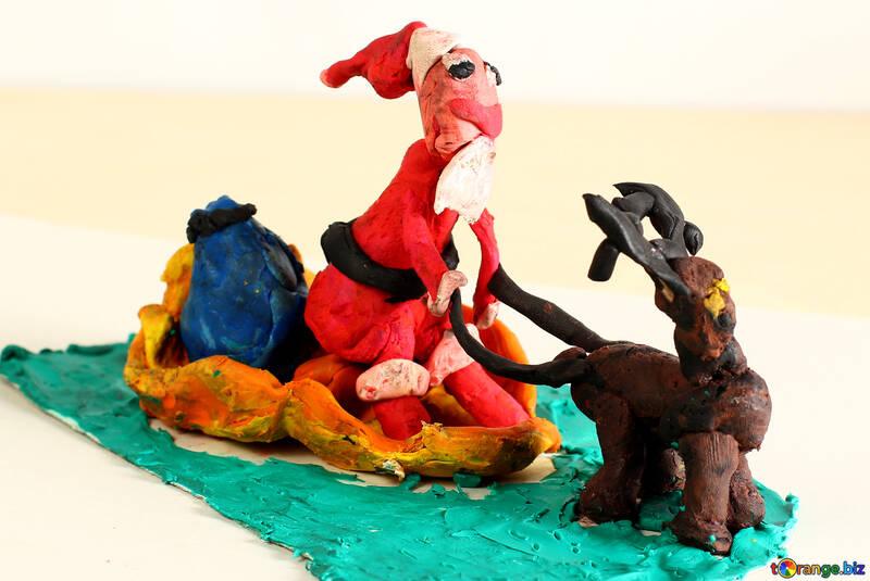Plasticine Santa Claus №35634