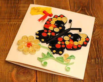 Children`s crafts birthday card №36323