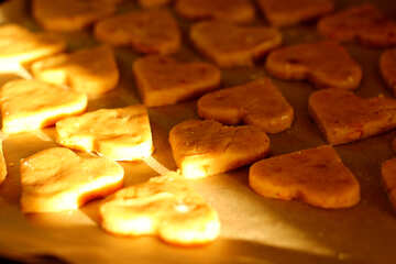 Cookies in the shape of hearts №36067