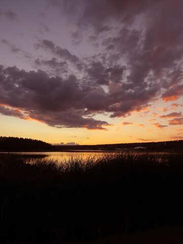 Вечернее озеро  №36371