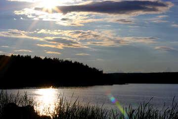 Serata estiva sul lago №36524