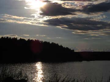 Летний вечер на реке  №36425
