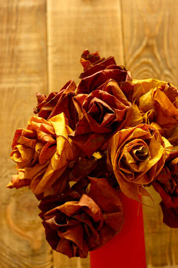 A bouquet of flowers from the fallen leaves №36039