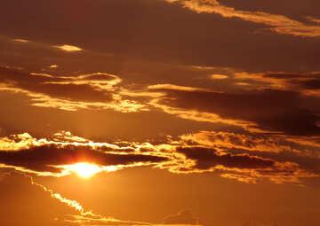Golden sky №36391