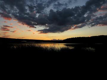 Lago de noche №36370