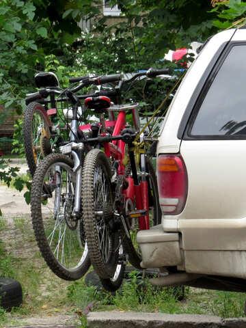 Fahrräder auf dem Auto №36178