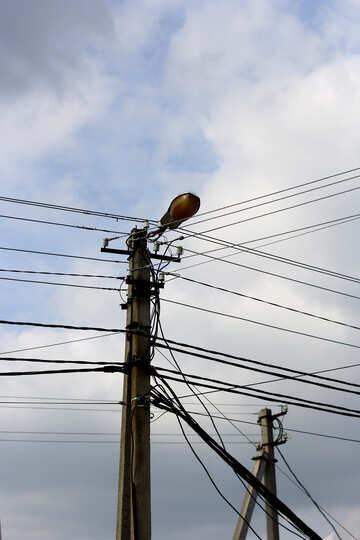 Many electric wires on the post №36140