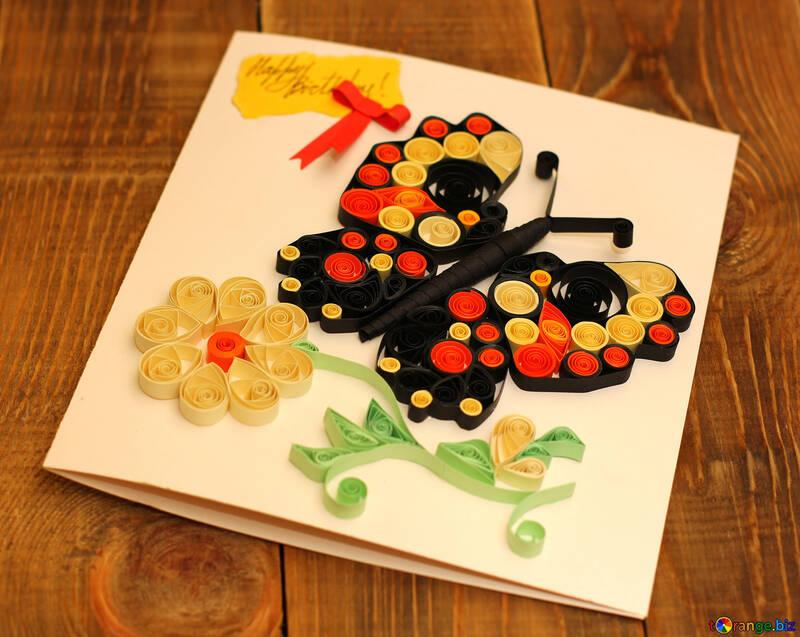 Children`s crafts birthday card №36323