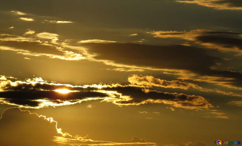 Beautiful sky at sunset №36399