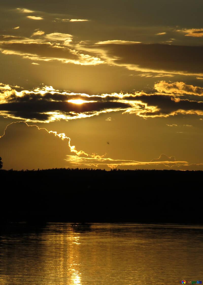 Sunset on the Lake №36398