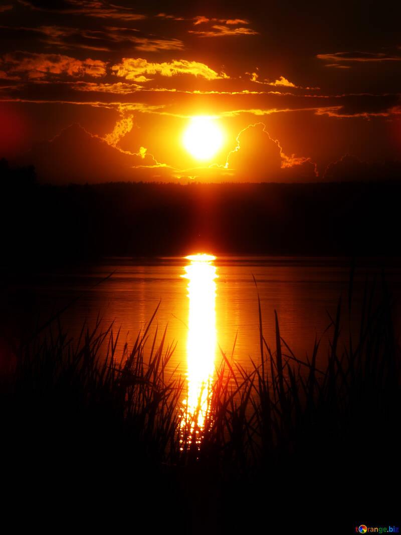 Reflection sunset №36386