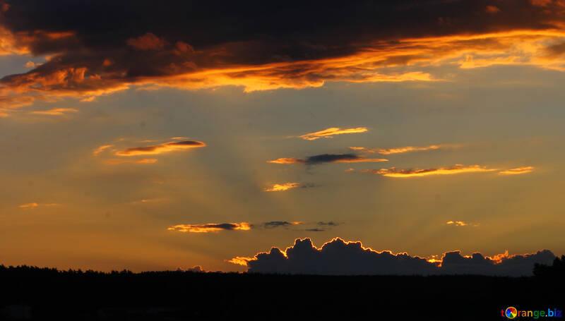 Sunset sky №36475