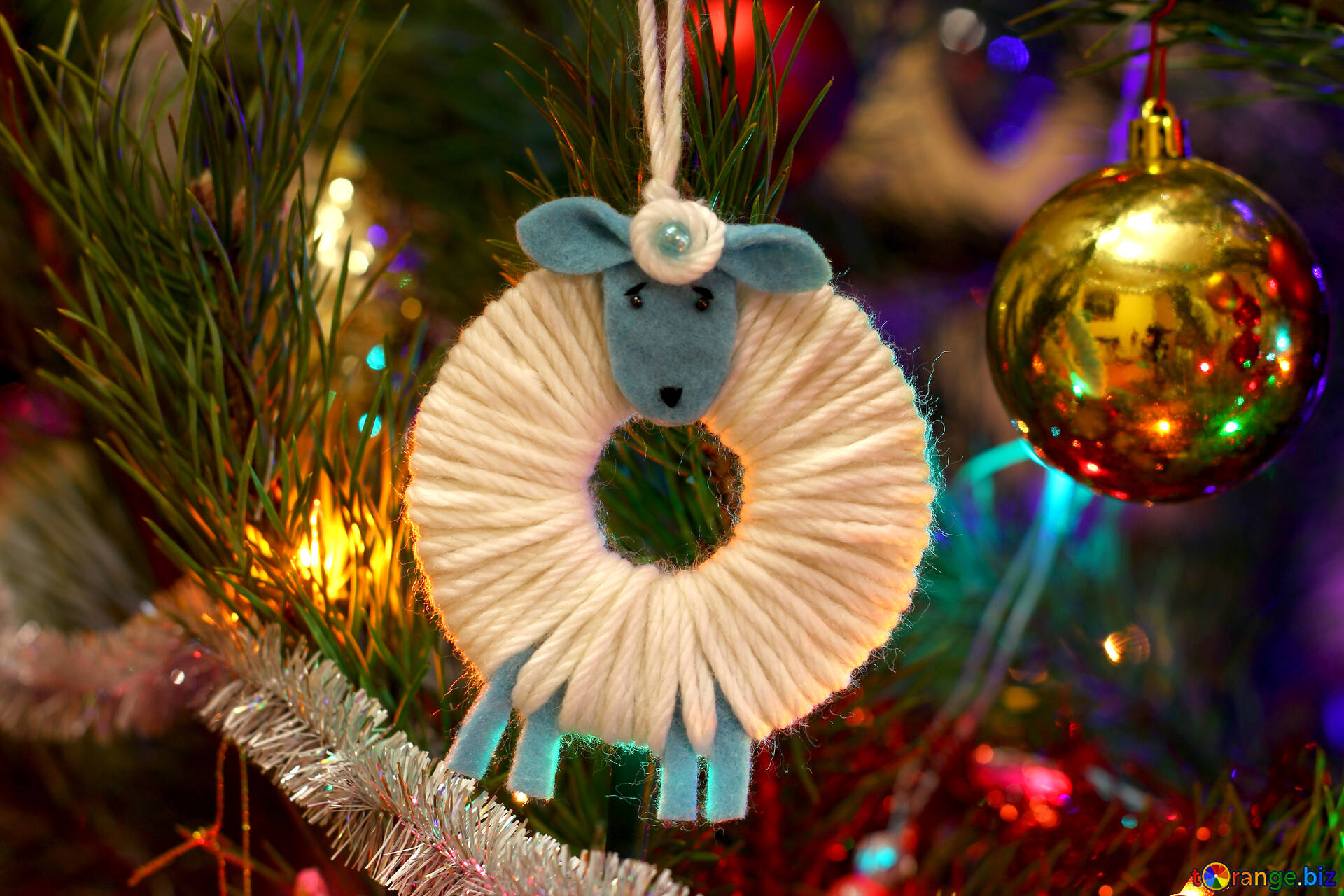 Christmas Tree Toys Handmade.Toy Sheep Handmade Christmas Tree Decorations Sheep Toy 37176