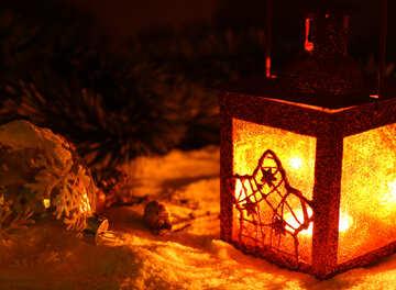 Christmas candle №37919