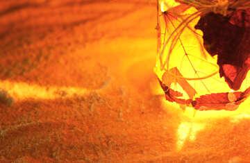 Street lighting candle on snow №37957