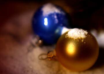Sfondo con palle di Natale №37927