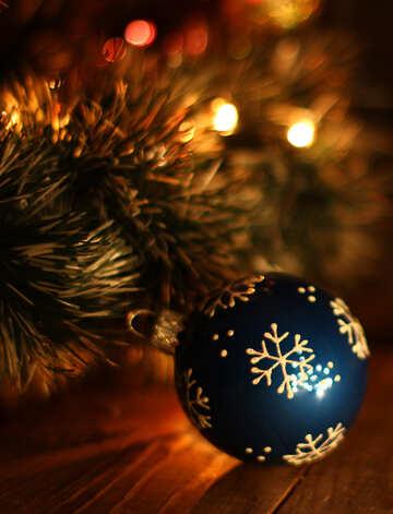 Синий рождественский шар №37839