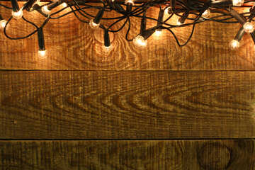 Christmas Garland on wooden wall backdrops №37890
