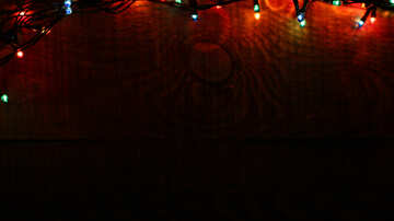 A dark background with Christmas lights №37870