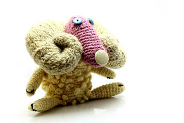 Toy sheep handmade №37168