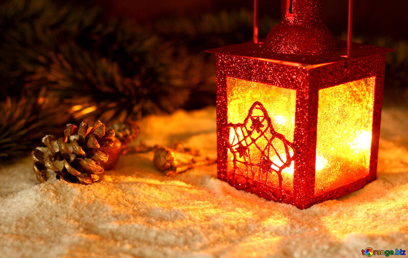 Огни свечи на рождество №37925