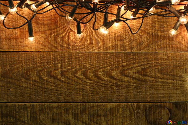 Guirlande de Noël sur les décors de mur en bois №37890